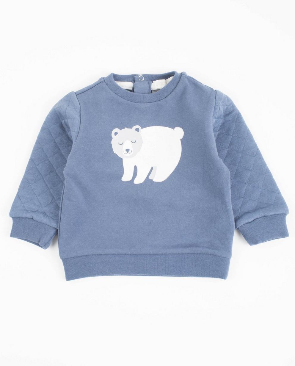 Sweat avec imprimé ours - bleu - Newborn